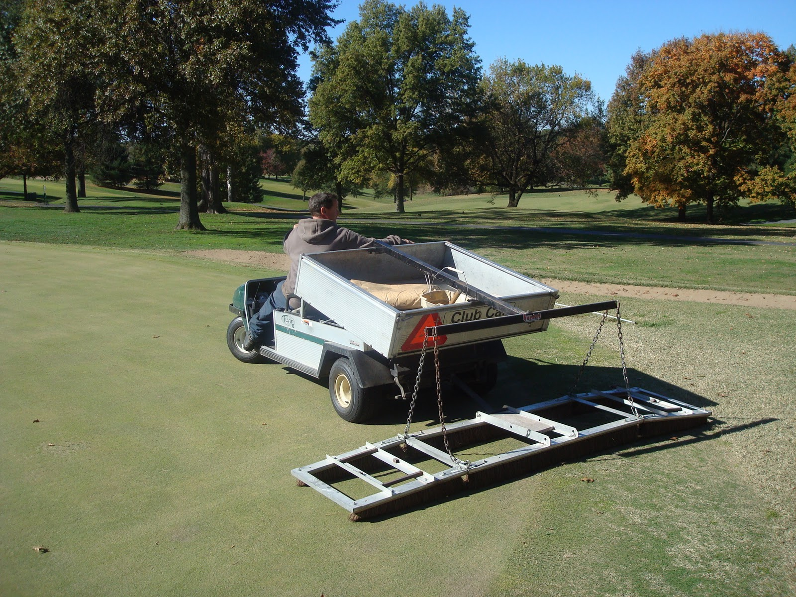 Glen Echo Country Club Golf Course Management Deep Tined Greens