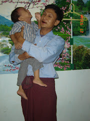 Friend Ko Nyi Nyi and his son