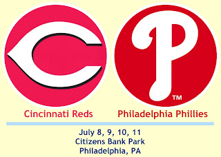 Reds at Phillies: July 8th through July 11th