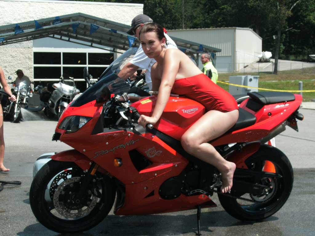 Bikini bike motorcycle cock hard