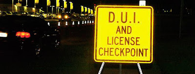 Motorcycle only drunk driving DUI driver license checkpoint roadbloc