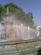 Arco Iris en la Fuente de las Batallas. Granada