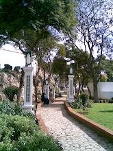 Entrada de unos jardínes en Tetuán