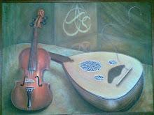 Uno de mis trabajos...Pintura y Khatt.