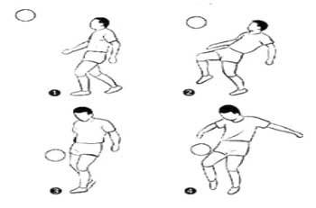 การหยุดลูกบอลด้วยเข่าหรือหน้าขา