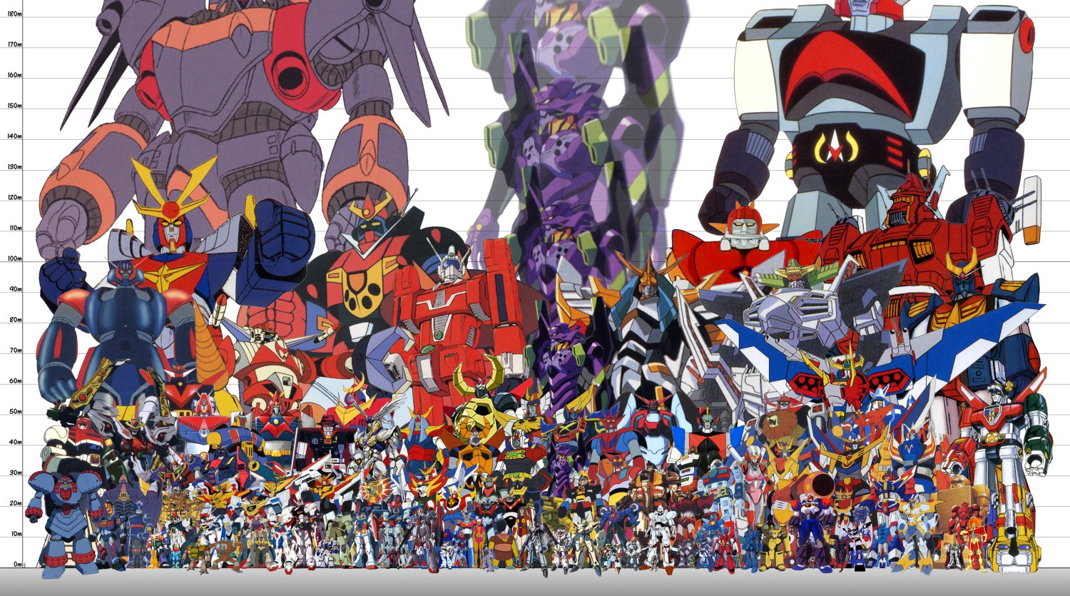Japan Robots Height comparison High  Res  ImageGiant Robot Size Chart
