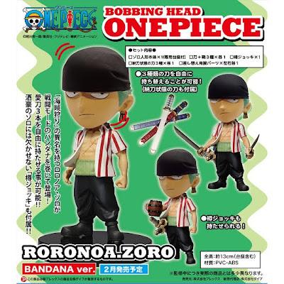 Bobbing Head One Piece series  Roronoa Zoro Bandana Ver  Many ImagesRoronoa Zoro Bandana