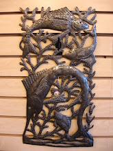 Fish cut metal art by Serge Jolimeau