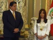 Con Alan García en Perú