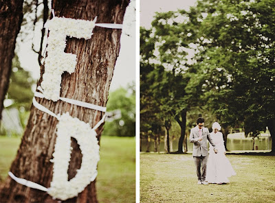Vintage, Streamers & Cute Flower Signage ~ Fad & Diba ~ UK Wedding Blog ~ Whimsical Wonderland Weddings