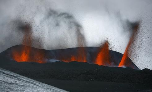 iceland volcano eruption 2010. The small volcano eruption