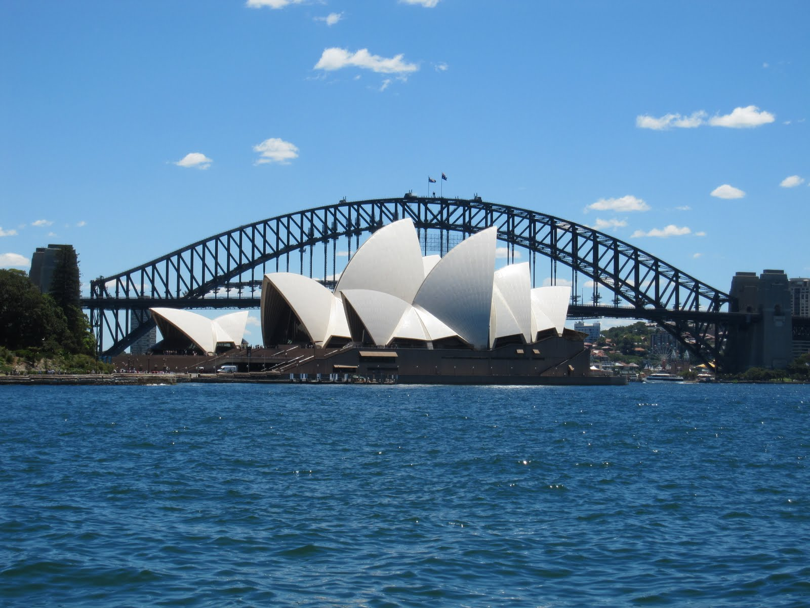 Opera+House+and+Harbour+Bridge+1 - View Sydney Harbour Bridge And Opera House Pictures  PNG