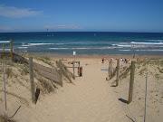 The walkway leads down to Wanda Beach, the northernmost patrolled beach of . (wanda beach)