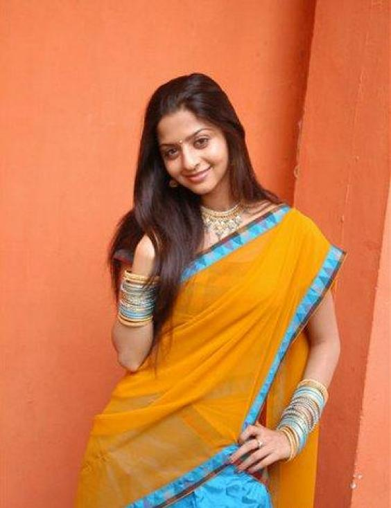 sexy for girls: Telugu Actress Vedhika Cute In Yellow Half ...
