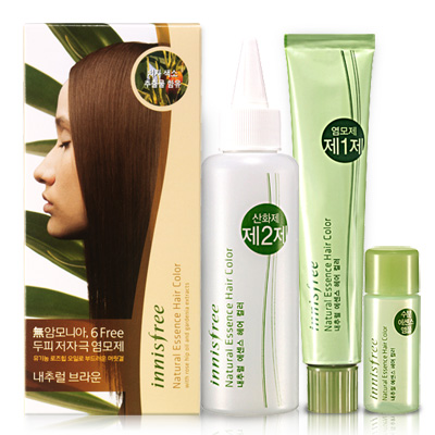 Natural Essence Hair Color 7N Natural Brown -- 7000 won (June/July 2010)