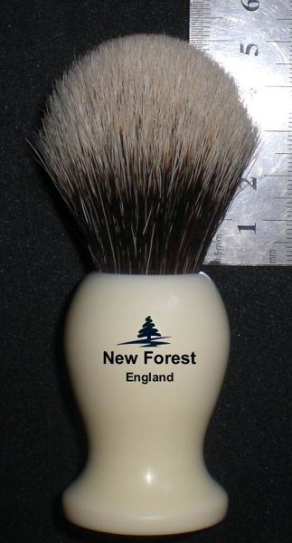 My next and future New Forest brushes will have this simplified logo with bolder lettering and new ink which should prove more durable.