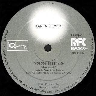Karen Silver - Nobody Else 1981 12 Inch