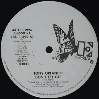 Tony Orlando - Don't let go 1978 12 Inch