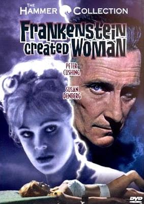 Hammer Film Posters: FRANKENSTEIN CREATED WOMAN