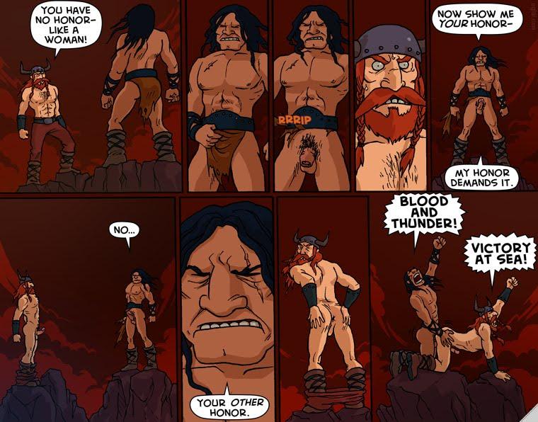 Викинги порно комикс