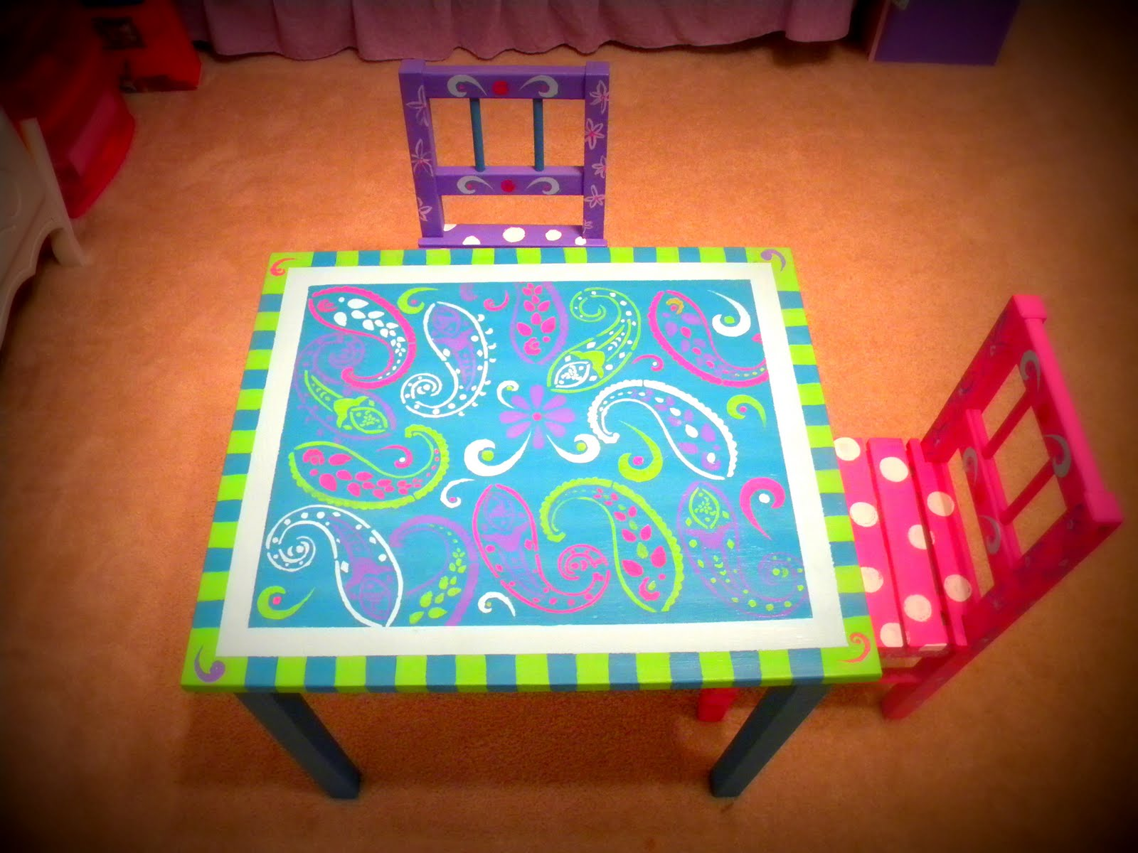 Buttercup Whimsy Handpainted Furniture