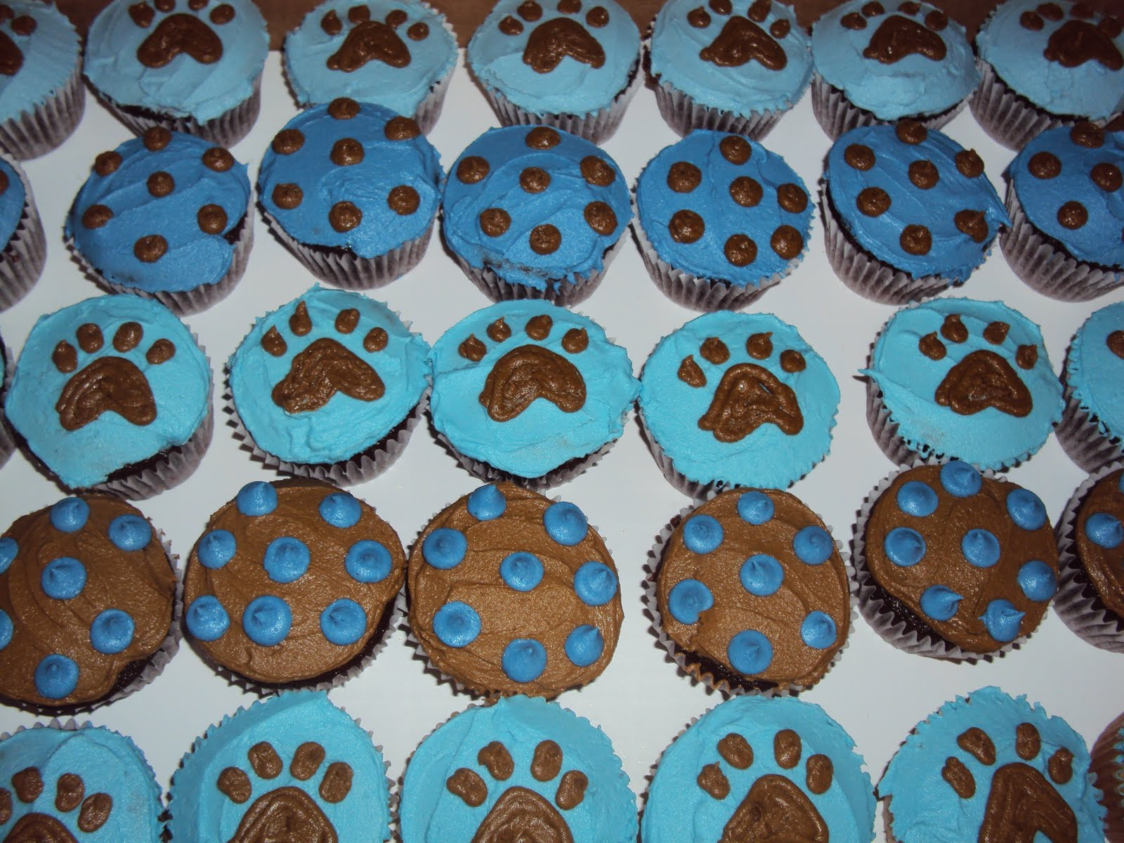 Icingonthecupcake2 Puppy Print Baby Shower