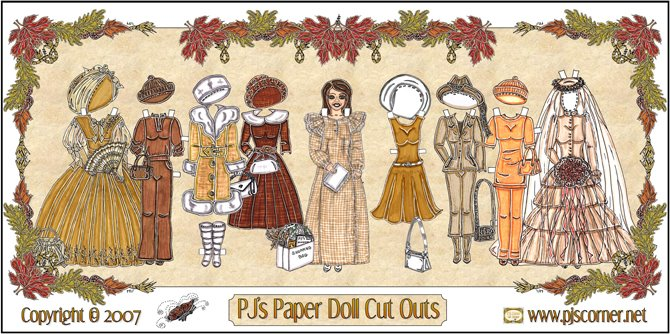 PJ's Paper Doll Cut Outs