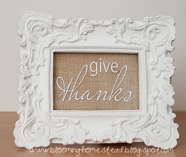 Give Thanks Frame - Blooming Homestead