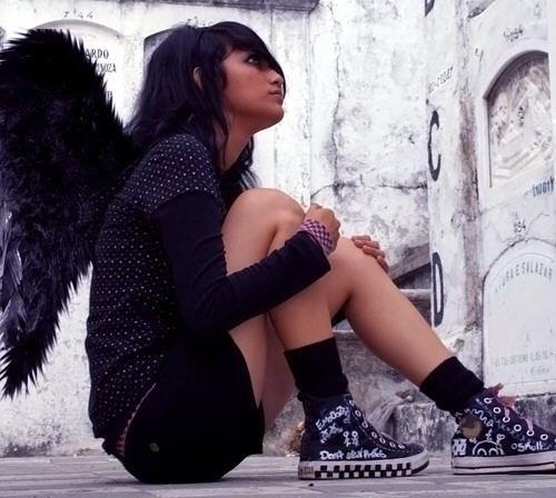 una angel negro?