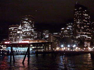San Francisco Ferry Building and Skyline at night, Halloween 2008