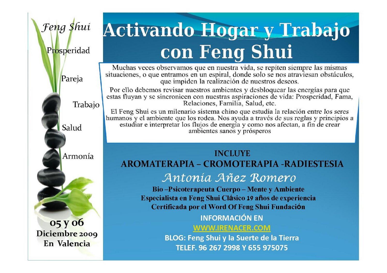 Feng shui y la suerte de la tierra taller activando hogar y trabajo con feng shui Feng shui hogar