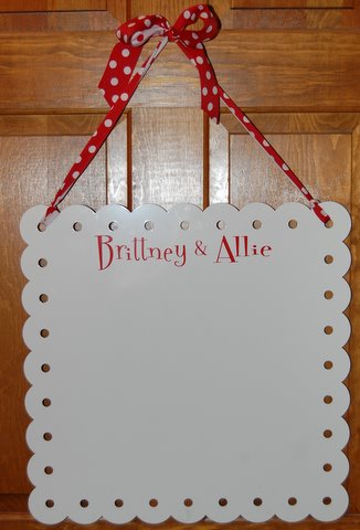 Perfect Graduation Gift   Dorm Room Door Hanger Dry Erase Magnet Board