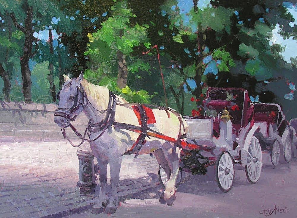 gary art studio central park horse carriage. Black Bedroom Furniture Sets. Home Design Ideas