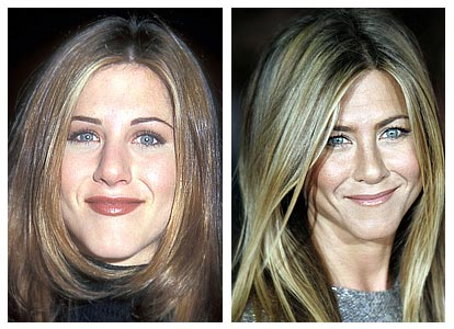 Did Jennifer Aniston get a nose job? (image hosted by http://plasticsurgerybeforeandafter.blogspot.com)