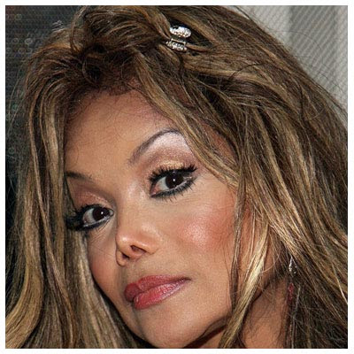 lady gaga before and after nose job. LaToya Jackson Nose Jobs Gone