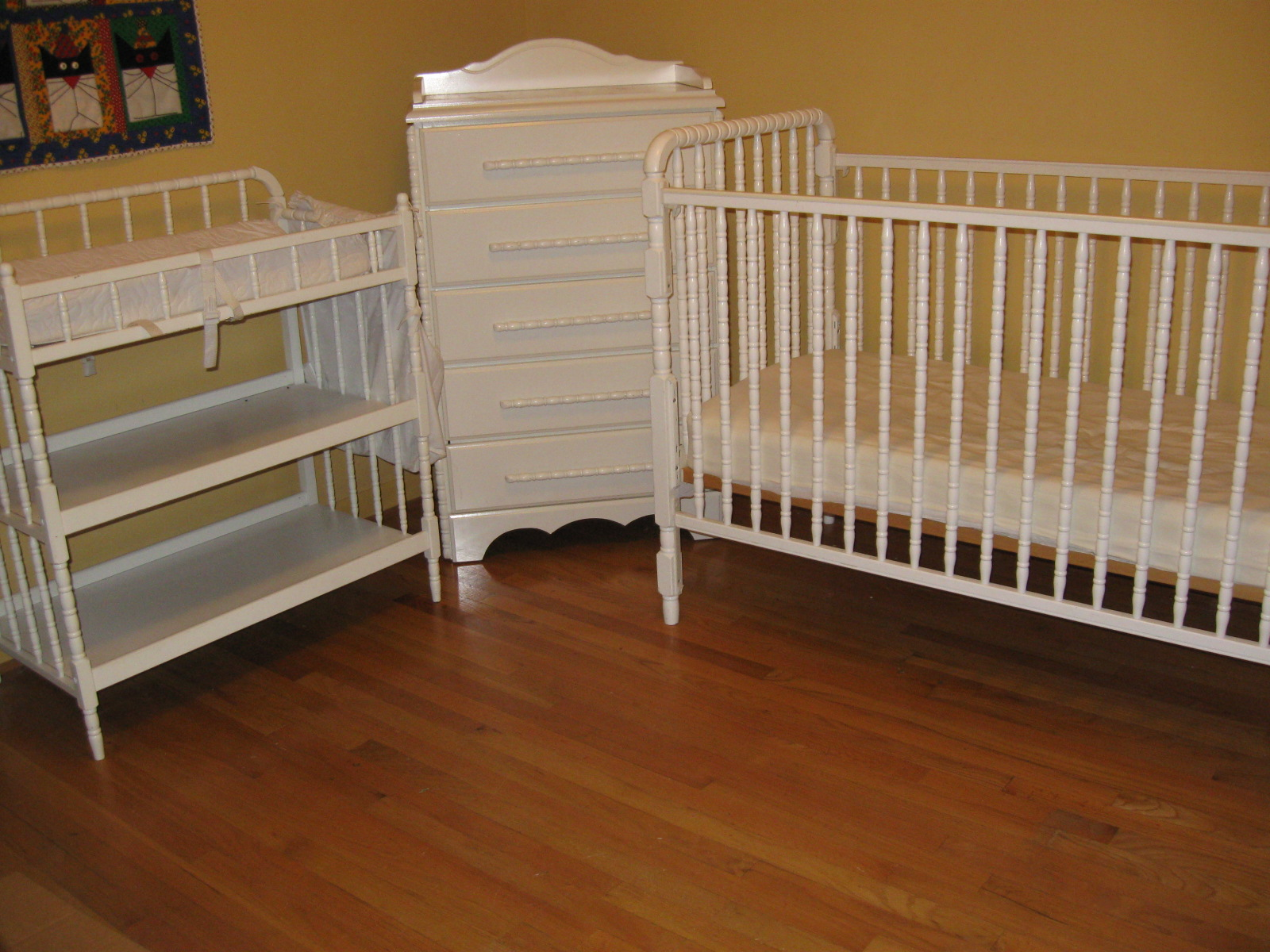 Amazing Three Piece Jenny Lind Baby Bed (including Mattress), Changing Table  (including Contoured Changing Pad), U0026 Chest   Good Condition (the Chestu0027s  Drawers Are ...