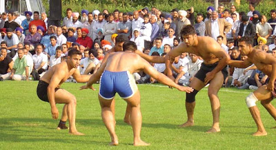 Man's playing Kabaddi