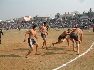 Throwing outside line kabaddi