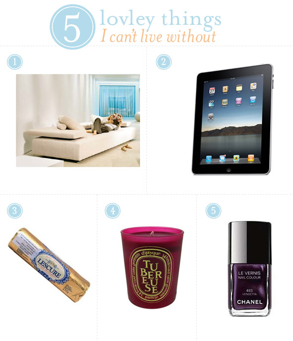 Little Bits of Lovely: 5 lovely things I can't live without {Not ...