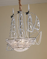 Seashore Days: Ship Chandelier