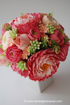 Coral Colored Flowers Wedding DK Designs Coral Pink And Peach Bridal Bouquet Sneak Peek