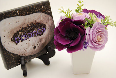 This particular purple anemone with light purple garden roses seems to be my most popular piece