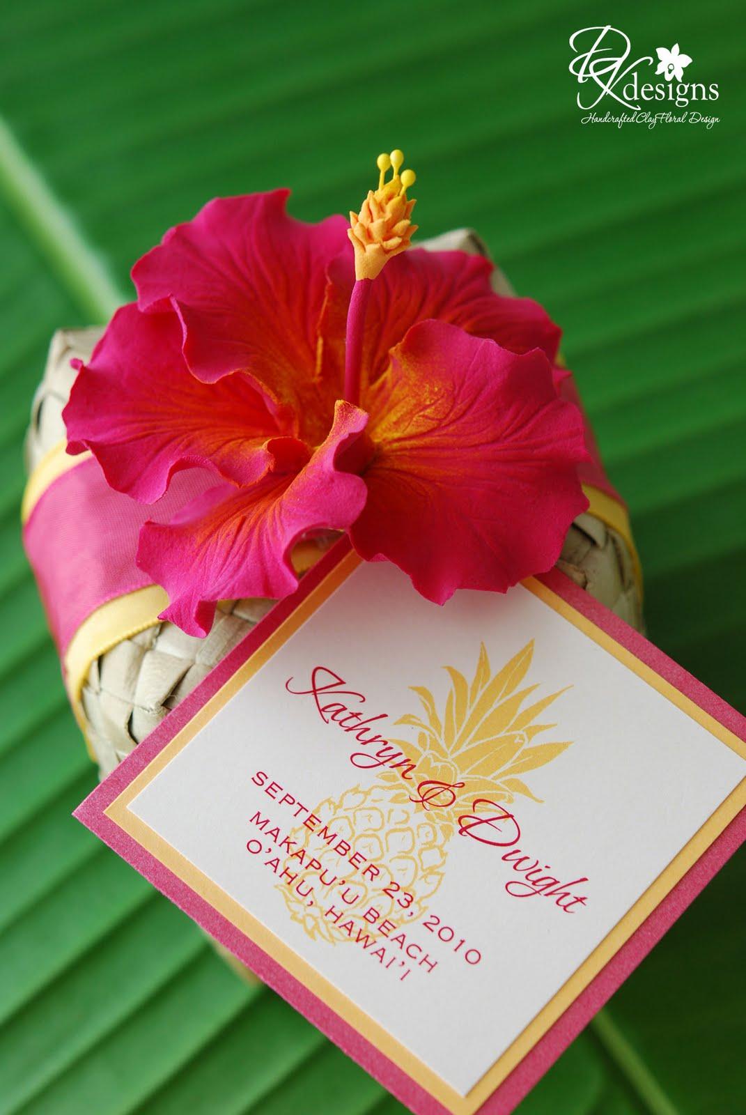DK Designs: Tropical Wedding Favors