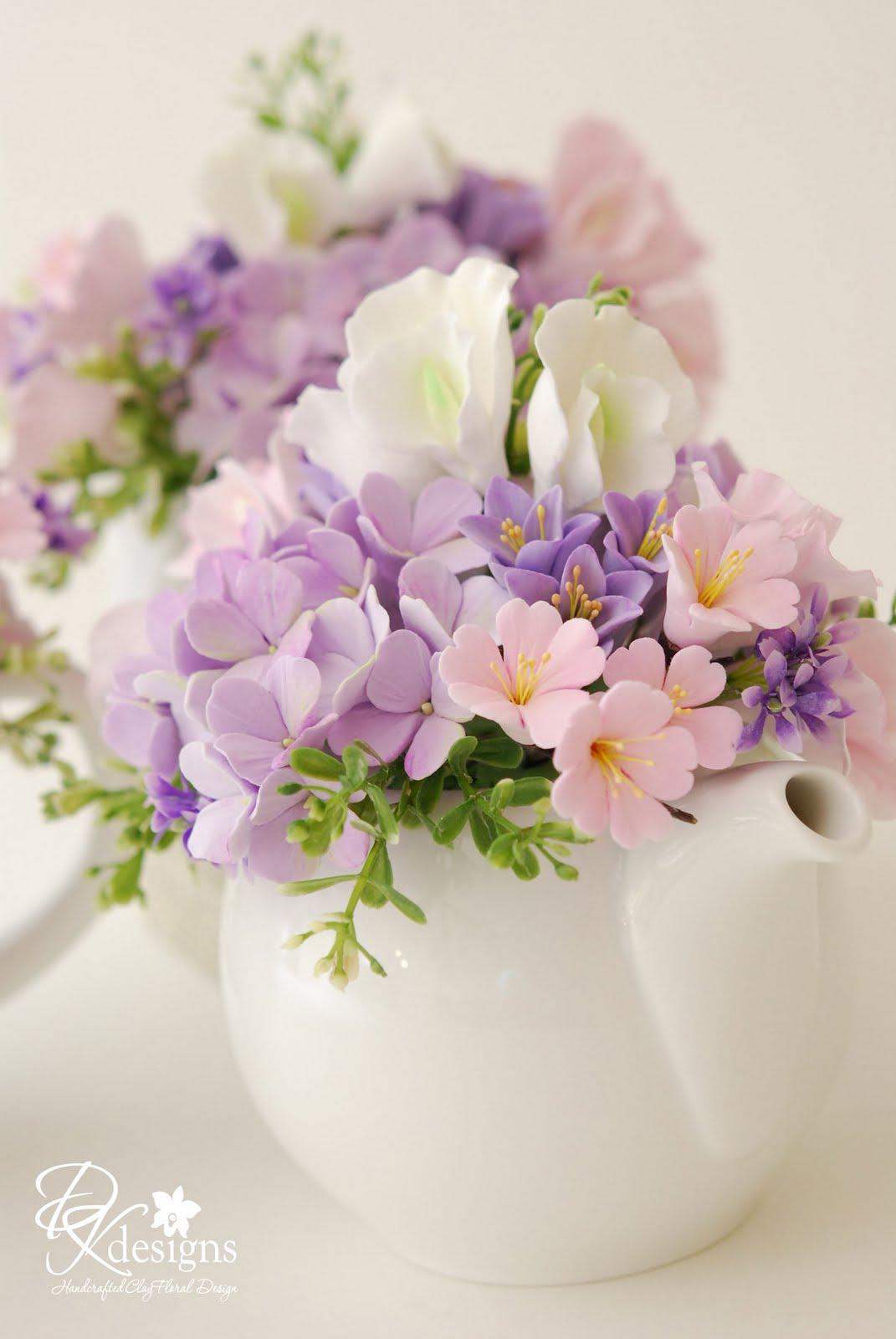 Bridal shower tea centerpieces dk designs