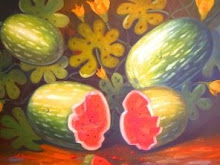 PATILLAS O SANDIAS 80 CM X 120 CM OLEO/LIENZO 2003  OBRA  DISPONIBLE