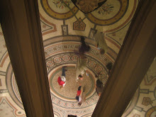 In the basement (looking at the ceiling mirror), Opera Garnier
