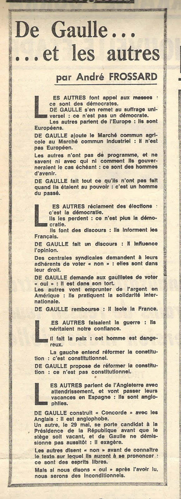 Andr FROSSARD Chroniqueur Au FIGARO