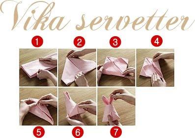 Vika servetter kuvert