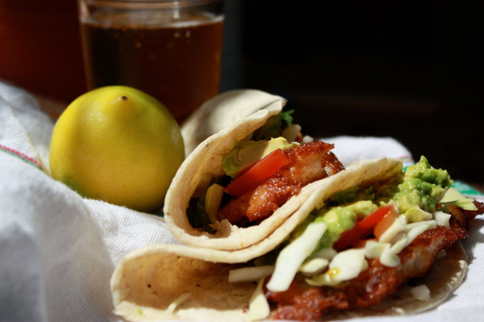 A feast of intuition simple bisquick beer battered fish tacos for Bisquick fish batter