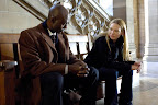 Fringe Promotional Photo: Lance Reddick as Phillip Broyles and Anna Torv as Olivia Dunham